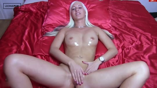 LeoniePur - Tight Teen Pussy Blasted and Cum Hard